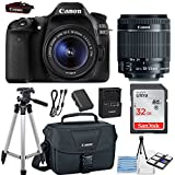 Canon EOS 80D 24.2MP DSLR Camera Bundle (Wi-Fi) with Canon EF-S 18-55mm f/3.5-5.6 is STM Lens +...