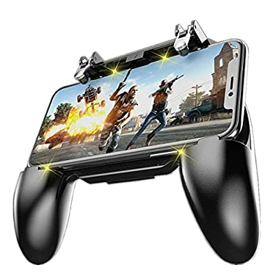 3-in-1 game controller: combines gamepads, game triggers, and mobile phone holders into one Suitable for all models of 4-6.5-inch mobile phones, For PUBG Mobile, Rules of Survival, Survivor Royale, Critical Ops, etc. Comfortable handle, long-term gam...