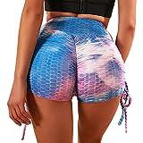 Merlvida Leggins Mujer Push Up Pantalones Cortos de Cintura Alta Mallas Deporte Mujer de Verano Ropa...