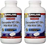 Kirkland Signature Extra Strength Glucosamine HCI 1500mg, With MSM 1500 mg, 375-Count Tablets (Multi Pack of 2)