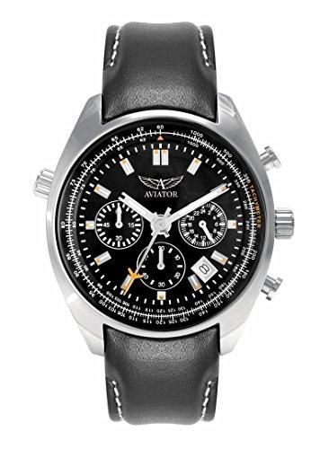 reloj Aviator de cuarzo con cronógrafo