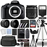 Canon EOS 2000D / Rebel T7 Digital SLR Camera Body w/Canon EF-S 18-55mm f/3.5-5.6 Lens 3 Lens DSLR...