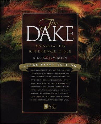 Dake Annotated Reference Bible-KJV-Large Print
