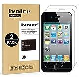 ivoler [Pack de 2] Verre Trempé pour iPhone 4S / iPhone 4 [Garantie à Vie],...
