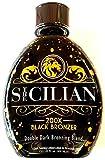 The Sicilian 200X Double Dark Black Bronzer Tanning Lotion 13.5 oz -...