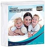 Utopia Bedding Zippered Mattress Encasement Twin, 100% Waterproof Mattress Protector, Absorbent,...