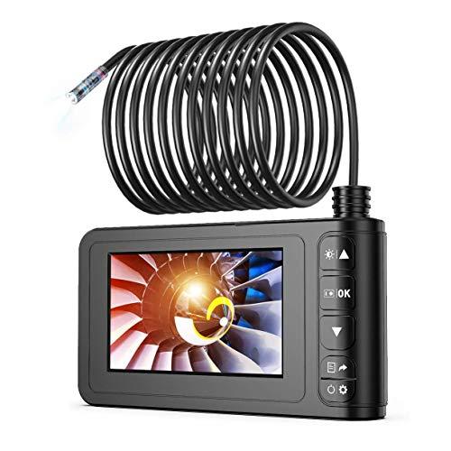 SKYBASIC Endoscopio Industriale, Telecamera Eeriscopio 1080P HD Digitale Telecamera per Ispezione con Schermo LCD da 4,3 Pollici Impermeabile con 6 Luci a LED, Cavo Semirigido, Scheda TF da 32 GB