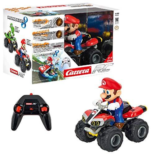 Carrera Toys Carrera RC 2,4 GHz Kart Quad giocattolo da corsa radiocomandato con batterie ricaricabili Con Mario Gioco ideale per bambini dai 6 anni in su, CARRE-200996