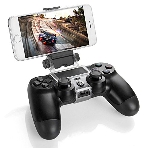 Link-e : Soporte universal teléfono inteligente / teléfono / móvil con el cable micro USB para PS4 controlador inalámbrico ( pinza, clip, Samsung, Android, HTC, Sony ...)