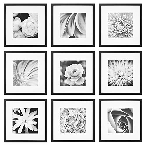 Gallery Perfect Gallery Wall Kit Square Photos with Hanging...