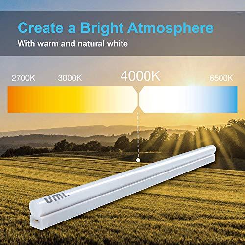 Umi. by Amazon, tubo a LED T5 da 61 cm estensibile, 900 lumen, ultrasottile e luminoso, con cavo di estensione addizionale, confezione da 1