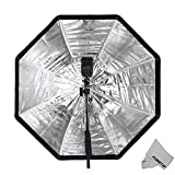 Godox 120cm/47.2in Portable Octagon Softbox Umbrella Brolly Reflector for Speedlight Flash