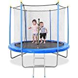 MaxKare 8 FT Trampoline for Kids Trampoline with Enclosure 48 Springs & Capacity 264 lbs, Safety Net...