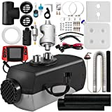 Fiberfly Diesel Heater 8KW, 15L Tank, Diesel Air Heater 12V,Muffler, Diesel Parking Heater with LCD Thermostat Monitor & Remote Control for Bus Boat and Motor-home