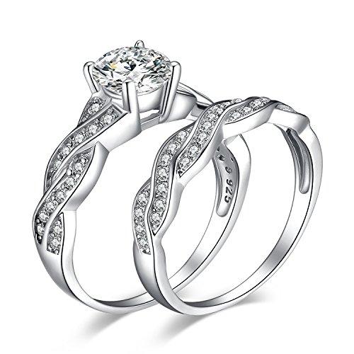 JewelryPalace Infinito Anillo de boda 1.5ct Circonita en plata de ley 925 Tamaño 15,5