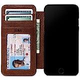 Sena Cases Genuine Leather Wallet Book iPhone 8 Plus / 7 Plus / 6 Plus (Heritage Cognac)