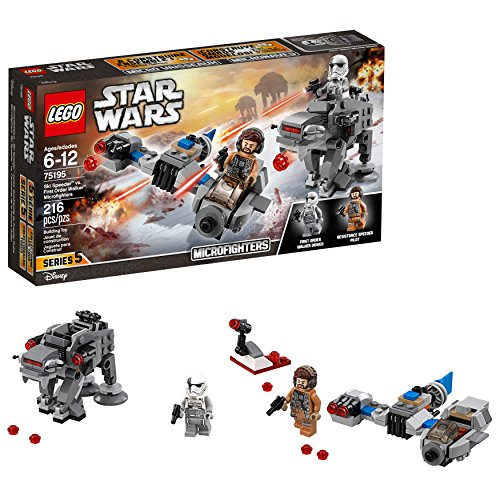LEGO Star Wars: The Last Jedi Ski Speeder vs. First Order Walker Microfighters 75195 Building Kit (216 Piece)