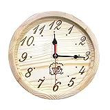 UWECAN Sauna Wooden Clock, Sauna Timer Clock Sauna Accessories Also for a Outdoor Clock - 9 inch