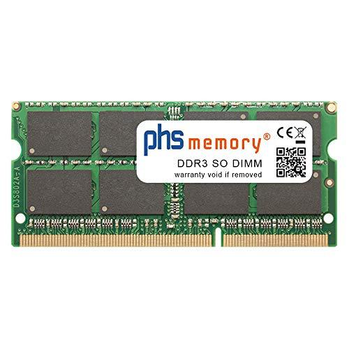PHS-memory 4GB RAM modulo per FOXCONN NetBox NT-A3500 AMD A45 FCH E-350 USFF Schwarz PC/Workstation Barebone DDR3 SO DIMM