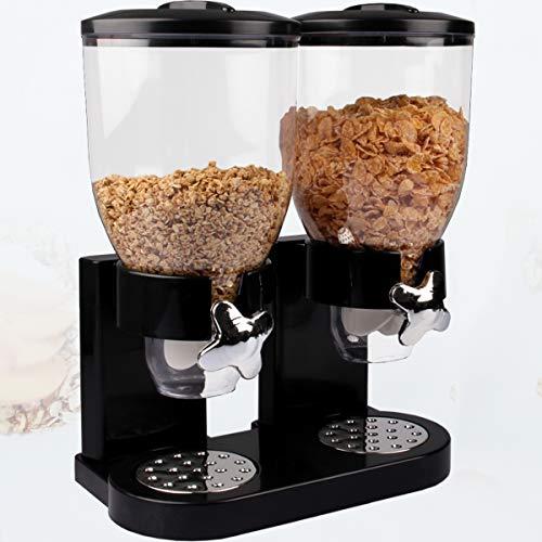 Stimo Doppel Spender für Müsli Cornflakes/Müslispender/Cornflakesspender/Cerealienspender