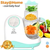 Baby Food Maker Chopper Grinder - Mills and Steamer 8 in 1 Processor for Toddlers - Steam, Blend, Chop, Disinfect, Clean, 20 Oz Tritan Stirring Cup, Touch Control Panel, Auto Shut-Off,110V Only, Green