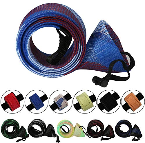 Rod Cover Sleeve,6 Pack Fishing Rod Socks for Fly Spinning Casting Sea Rod, Braided Mesh Fishing...