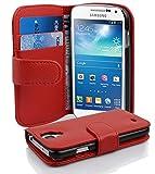 Cadorabo Coque pour Samsung Galaxy S4 Mini Rouge Cerise Housse de...