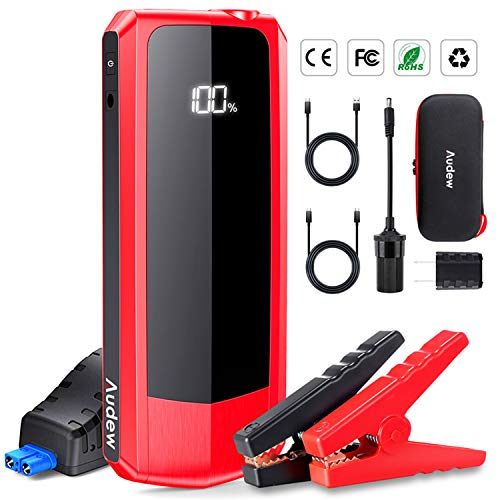 Audew Upgraded Car Jump Starters, Jump Box 2000A Peak 20000mAh Battery Charger Automotive(up to All...
