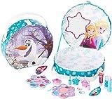 Disney Frozen Grandes maletín con asa y diseño de Frozen (Contiene kindgerechte Maquillaje para ojos y labios, esmalte de uñas, anillos), regalo para chica