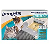 LitterMaid LM-86579 Automatic Multi-Cat Litter Box Self-Cleaning Scoop with Ramp, 24'