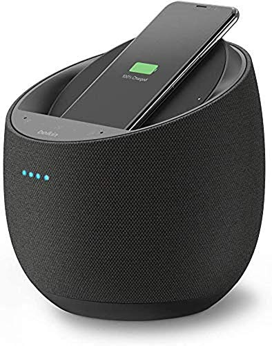Belkin Enceinte Hi-Fi connectée + Chargeur à induction intégré SoundForm Elite (Alexa, Bluetooth, Devialet, AirPlay 2, noir)