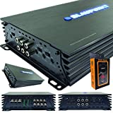 Blaupunkt AMP1404 Car Audio 4-Channel Amp Amplifier 1500 Watts Max Peak Power with Gravity Magnet Phone Holder Bundle