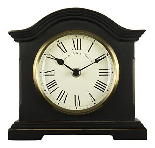 Towcester Clock Works Co. Acctim 33283 Falkenburg Kaminuhr, Schwarz