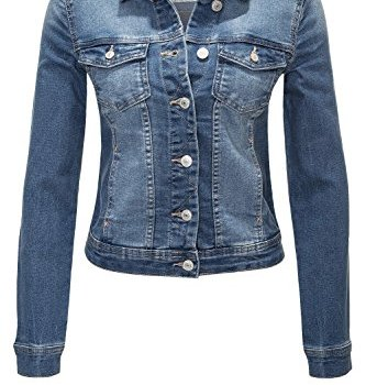ONLY Damen Jeansjacke Übergangsjacke Leichte Jacke Denim Casual Medium Blue Denim
