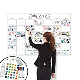 X Large Dry Erase Wall Calendar - 24'x 36' Premium Giant Oversized Undated Erasable Deadline Task Calendar for 2021 - Jumbo Monthly Task Organizer Planner for Home, Business & Dorm Room