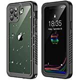 RedPepper iPhone 11 Pro Waterproof Case, Clear Full Body Heavy Duty Protection with Built-in Screen Protector Shockproof Rugged Cover Designed for iPhone 11 Pro 5.8 inch 2019 (Black)