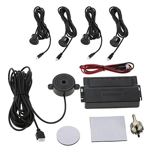 KKmoon Auto Einparkhilfe Universal KFZ Summer Rückfahrhilfe mit 4 Sensoren Radar Kit
