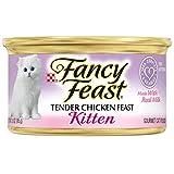 Purina Fancy Feast Grain Free Pate Wet Kitten Food, Tender Chicken Feast - (24) 3 oz. Cans