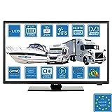 Camping Car Caravane Bateau 12 Volt 22 Pouces 56cm LED Full HD Téléviseur Numérique DVB-T2/C/S2 TNT HD,...