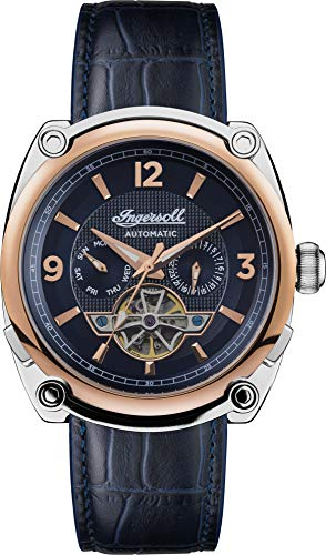 Ingersoll Men's The Michigan Automatic Watch with Blue Dial and Blue Leather Strap I01101B