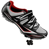 Venzo Cycling Bicycle Cycle Mountain Bike Shoes Men - Compatible with Shimano SPD Cleats - Good for Spin Cycle, Off Road and MTB with Multiple Release Cleats -Size 48