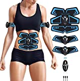 UMATE ABS Stimulator Abdominal Muscle Toner, EMS Abdomen Muscle Trainer Toning Workout Rechargeable for Men Women, Abs Stimulating Belt