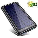 QTshine Batterie Externe Solaire 26800mAh USB-C (entrée Uniquement),...