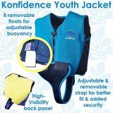 Konfidence Youth Swim Jacket - Blue/Navy (10-12 Years)