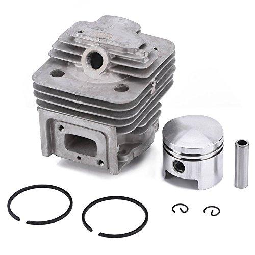 Zerodis Cylinder Piston Kits Rings Guarnizione Pin Circlip Rasaerba Accessori Taglia MITSUBISHI TL52...