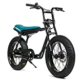 Super73-Z1 Jett Black Electric Motorbike, 36V Lithium Ion Battery 500 Watt Rear Hub Motor, Full Throttle E-Bike…