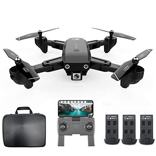 Goolsky CSJ S166GPS Drone con Fotocamera 1080P Borsa Seguimi Ritorno Automatico a casa WiFi FPV Foto di gesti di Video in Diretta RC Quadcopter per Adulti