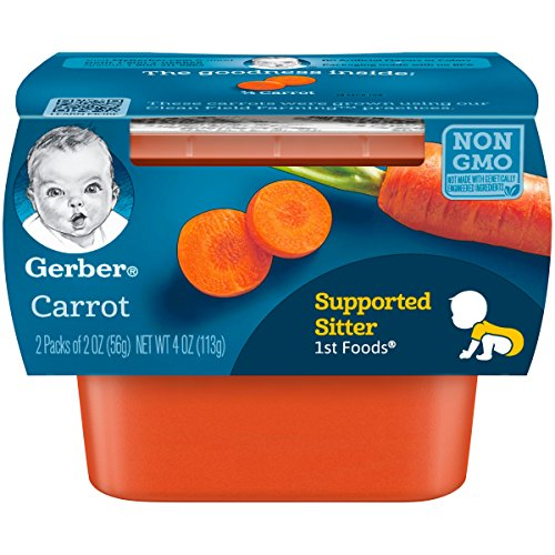 Gerber-1st-Foods-Carrot-Pureed-Baby-Food-2-Ounce-Tubs-2-Count-Pack-of-8