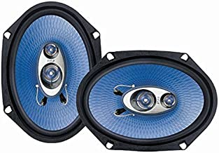 "6"" x 8"" Car Sound Speaker (Pair) – Upgraded Blue Poly Injection Cone 3-Way 360.."