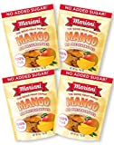Mariani - Dried Mango - 4oz (Pack of 4) - Unsweetened & Unsulfured - 100% Fruit - Gluten Free, Vegan, No Preservatives, Resealable Bag - Healthy Snack for Kids & Adults